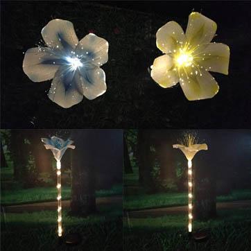 φωτεινή διακόσμηση λουλουδιών οπτικών ινών