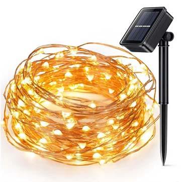 ηλιακή ενέργεια χάλκινο σύρμα φως σειρά
