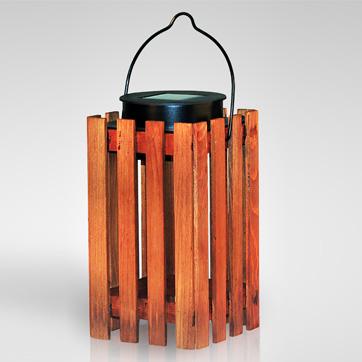 ηλιακό ξύλινο φανάρι φανάρι